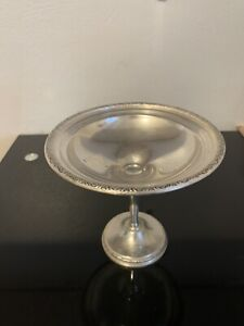Prelude By International Sterling Silver Weighted Raised Compote T201 Mint Cond