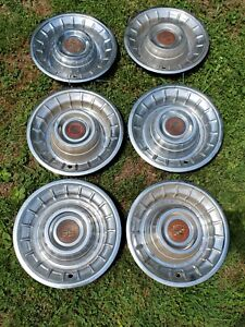 1956 Cadillac Hubcaps Lot Of 6