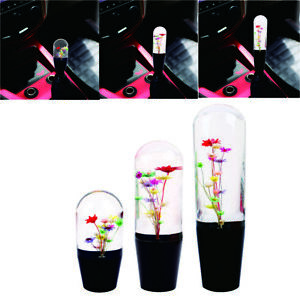 Jdm Racing Crystal Multicolor Real Flowers Gear Shift Knob Shift Head Universal