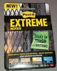 3m Post it Extreme Notes 3 Pads 3 Colors Sticks In Tough Conditions Water Resis