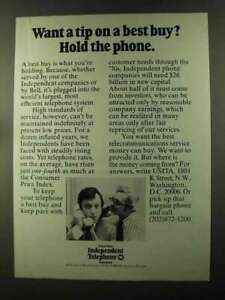 1973 United States Independent Telephone Association Ad - A Tip