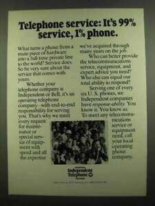 1974 US Independent Telephone Associations Ad - Service