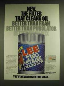 1984 Lee Two Stage Maxifilter Ad The filter that cleans oil better $16.99