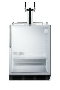 Summit Sbc56gbicssada 24 w 5 5 Cu Ft Built in Commercial Double Glass