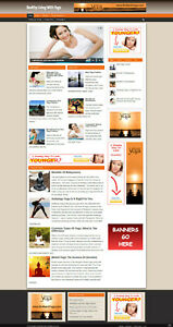 Healthy Living With Yoga Website With Affiliate Options Free Domain