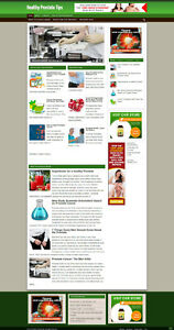 Prostate Health Advice Affiliate Website With New Free Domain Hosting