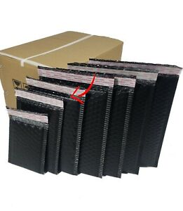 Pack Of 260 Pieces In Box 6 X 8 Inches Size Black Poly Bubble Mailers Envelopes
