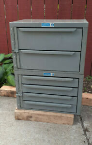 Adrian Steel Usa 6 Drawers Metal Parts Cabinets 12 deep 2 Sizes Dividers Locks