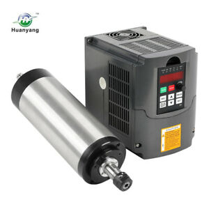 3kw 4 Bearing Water cooled Spindle Motor Huanyang Vfd Drive Inverter Speed Ctrl