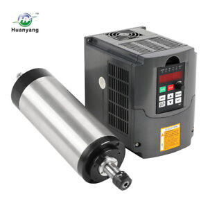 3kw Water cooled Spindle Motor W 4 Bearing And Huanyang Vfd Drive Inverter