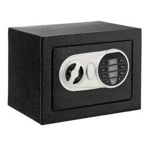 Electronic Digital Password Steel Plate Safe Box Home Office Hotel Gun Black