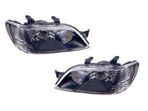 Headlights Replacement Set For 2002 2003 Lancer Sedan Left Right Pair