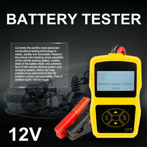 Car Battery System Tester Cranking Charging Test Digital Analyzer Tool 12v