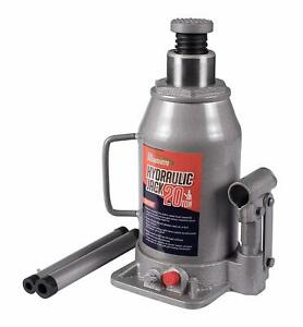 Baishite High Quality Steel Hydraulic Bottle Jack 20 Ton Capacity Grey Hx04004
