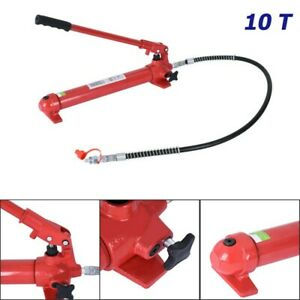 10 Ton Hydraulic Porta Power Pump Replacement Pump Ram For Auto Vehicle Repair