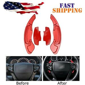 Steering Wheel Paddle Shifter Extension For Honda Accord Civic Cr V Acura Red