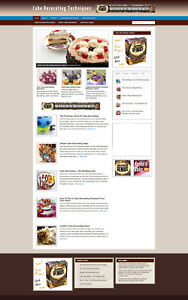 Cake Decorating Advice Website Affiliate Store Banners Domain