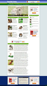 Puppy Potty Training Tips Website With Affiliate Options New Domain