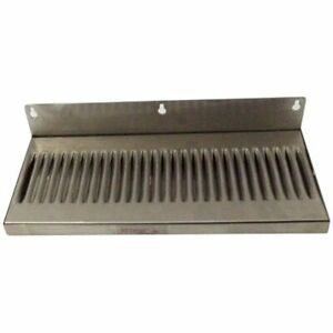 Cominhkpr01771 6 X 14 Stainless Steel Wall Mount Draft Beer Drip Tray