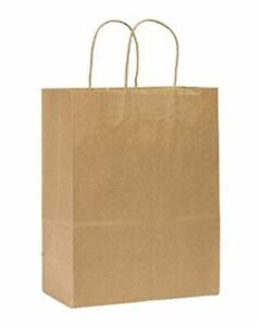 Rope Handle Paper Shopping Bags Missy 10x5x13 Natural Kraft 250 case