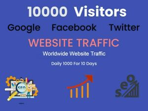 10000 Real High Quality Worldwide Website Traffic 100 Real Web Traffic Seo