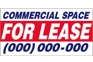 Commercial Space For Lease Vinyl Banner Custom Sign add Your Phone