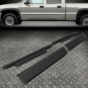For 99 06 Silverado Sierra Gmt800 Crew Cab Durable Rocker Panel Sill Plate Cover