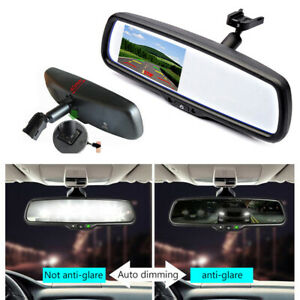 Car 4 3 Auto Dimming Tft Lcd Rear View Mirror Monitor Backup 2ch Video bracket