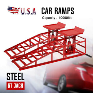A Pair Lift Repairframe Auto Car Service Ramps Lifts Heavy Duty Hydraulic In fy