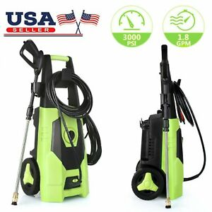 3000 Psi 1 8gpm Electric Pressure Washer High Powerful Water Cleaner Machine Kit