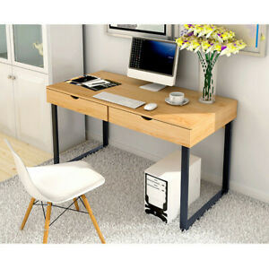 Computer Desk Home Office Desk Laptop Study Workstation Table 2 Storage Drawers