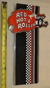 Rare Old Vintage Snap On Tools Tool Box Sticker Decal Red Hot Rollin 15 1 2