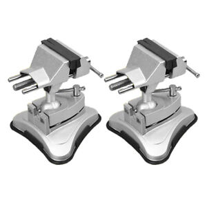 2pcs Bench Vise Rotating Craft Repair Tools Bench Vice Rubber Suction Base