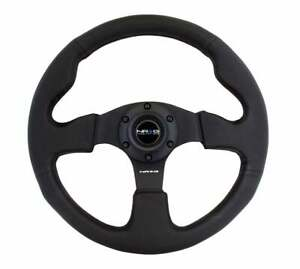Nrg Steering Wheel 320mm Race Sport Type R Black Leather Red Stitch