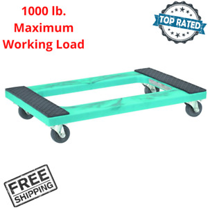 1000 Lb Capacity 18 x 30 Resin Box Freight Moving Push Dolly Hand Cart Truck