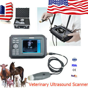 Fda Ce Veterinary Portable Handheld Digital Ultrasound Scanner With 3 5mhz probe
