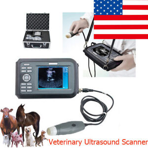 Portable V7 Handheld Veterinary Ultrasound Scanner For Animals With 3 5mhz probe