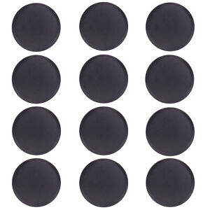 Round Black Plastic Serving Tray 12 pack 14 inch