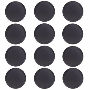 Round Black Plastic Serving Tray 12 pack 18 inch