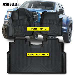 All Weather Protection Rubber Floor Mats For 2015 2020 Ford F 150 Supercrew Cab