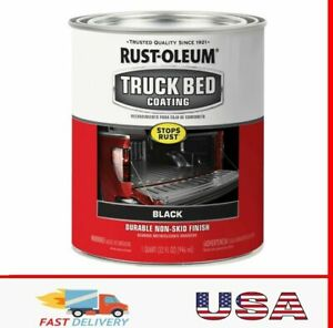 Truck Bed Black Liner Coating Rust Oleum Brush Roll Protectant Scratch Quarts