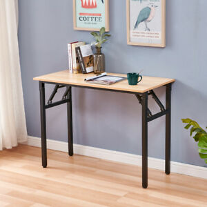 Computer Desk Folding Table Sturdy Writing Desk Workstation For Small Spaces Us