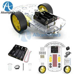 2wd Smart Robot Car Chassis Kit W Speed Encoder Battery Box For Arduino 2 Motor