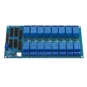 16 Canale 5v Relay Module Board With Optocoupler For Pic Avr Dsp Arm L