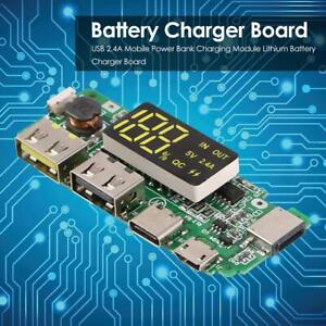 Led Usb 2 4a Mobile Power Bank Charging Module Lithium Battery Charger Board