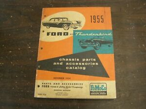 Oem Ford 1955 Master Parts Book Fairlane Thunderbird Chassis Accessories