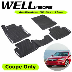 All Weather Floor Mats Lite For Honda 08 12 Accord Coupe Wellvisors 3 864hd001
