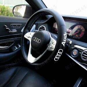 Black New Faux Leather 15 Diameter Car Steering Wheel Cover For All Audi Cars