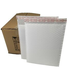 Pack 95 In Box 9 X 12 Inches Usable Size Lg White Poly Bubble Mailers Envelopes