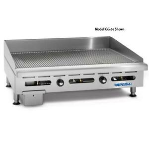 Imperial Igg 24 ob 2 24 Grooved Gas Griddle W 2 Open Burners